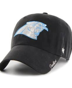 Carolina Panthers Sparkle Team Color Clean Up Black 47 Brand Womens Hat