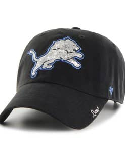 Detroit Lions Sparkle Team Color Clean Up Black 47 Brand Womens Hat