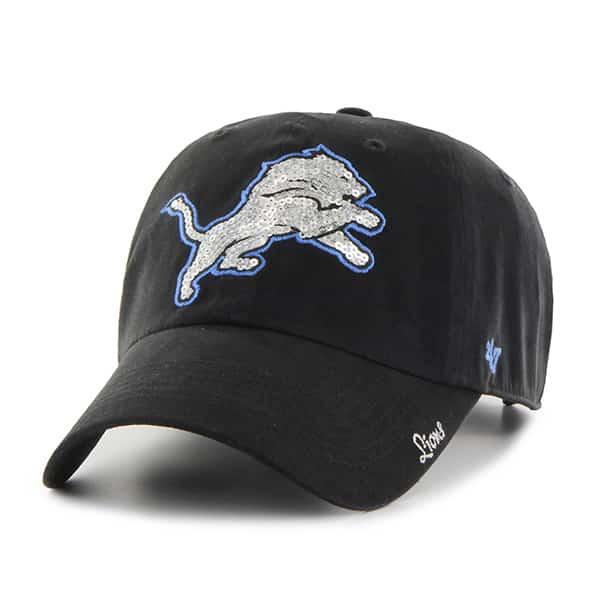 Detroit Lions Sparkle Team Color Clean Up Black 47 Brand Womens Hat