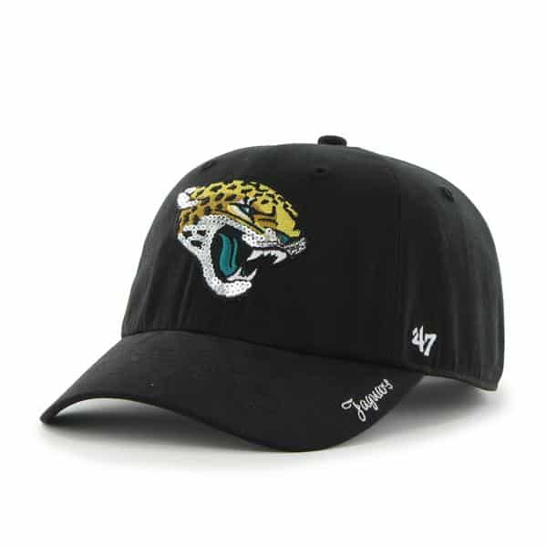 Jacksonville Jaguars Sparkle Team Color Clean Up Black 47 Brand Womens Hat