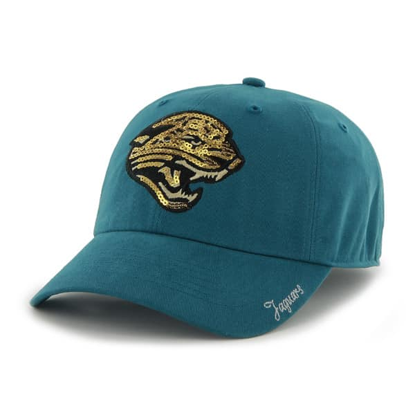 Jacksonville Jaguars Sparkle Team Color Clean Up Dark Teal 47 Brand Womens Hat