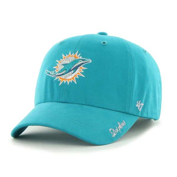 Miami Dolphins Sparkle Team Color Clean Up Neptune 47 Brand Womens Hat