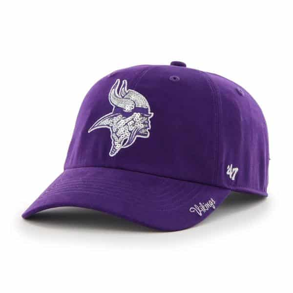 Minnesota Vikings Sparkle Team Color Clean Up Purple 47 Brand Womens Hat