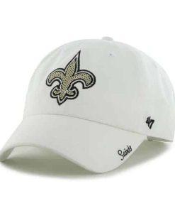 New Orleans Saints Sparkle Team Color Clean Up White 47 Brand Womens Hat