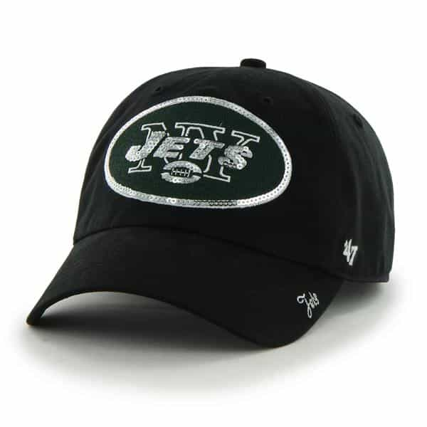 New York Jets Sparkle Team Color Clean Up Black 47 Brand Womens Hat