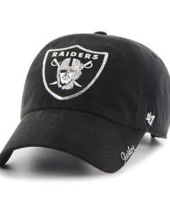 Oakland Raiders Sparkle Team Color Clean Up Black 47 Brand Womens Hat