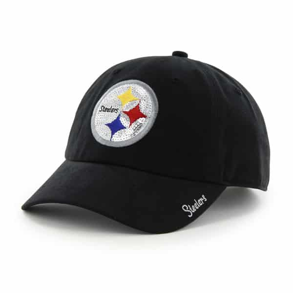 Pittsburgh Steelers Sparkle Team Color Clean Up Black 47 Brand Womens Hat