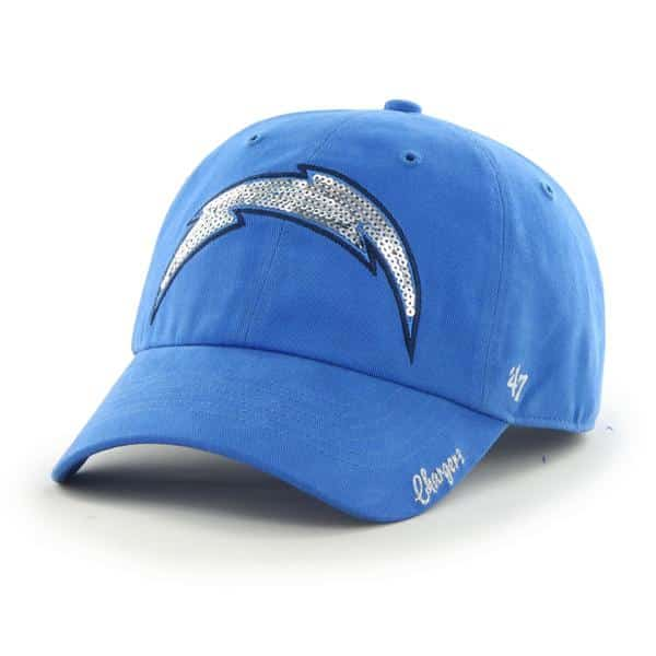 San Diego Chargers Sparkle Team Color Clean Up Blue Raz 47 Brand Womens Hat