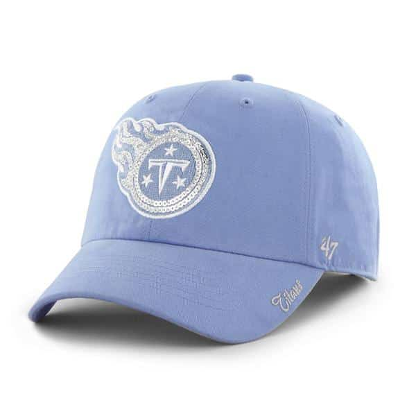 Tennessee Titans Sparkle Team Color Clean Up Periwinkle 47 Brand Womens Hat