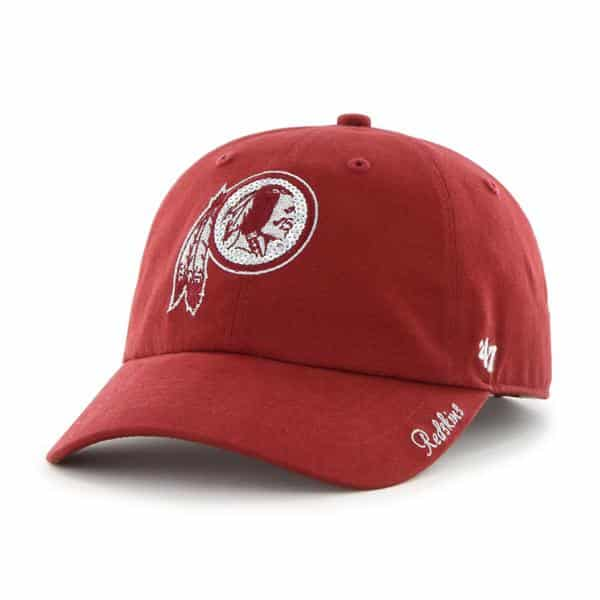 Washington Redskins Sparkle Team Color Clean Up Razor Red 47 Brand Womens Hat