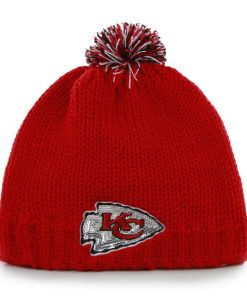 Kansas City Chiefs Sparkle Knit Torch Red 47 Brand Womens Hat