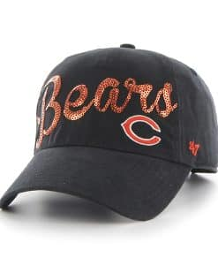 Chicago Bears Sparkle Script Clean Up Navy 47 Brand Womens Hat