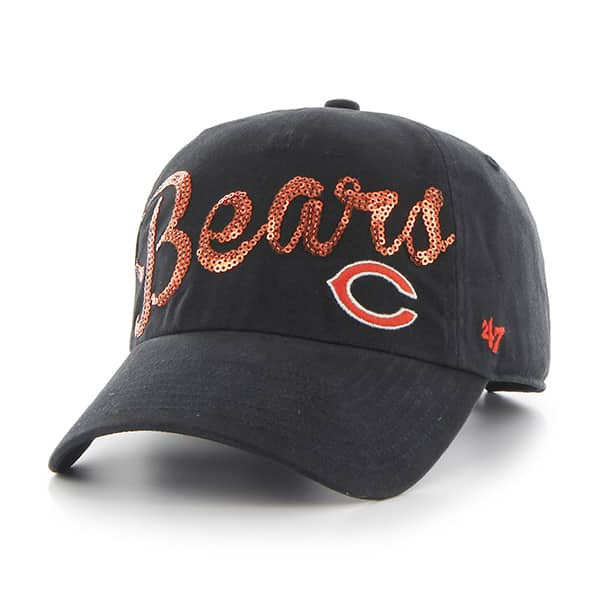 chicago bears sparkle script clean up navy 47 brand womens