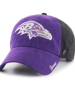 Baltimore Ravens Sparkle Two Tone Clean Up Black 47 Brand Womens Hat