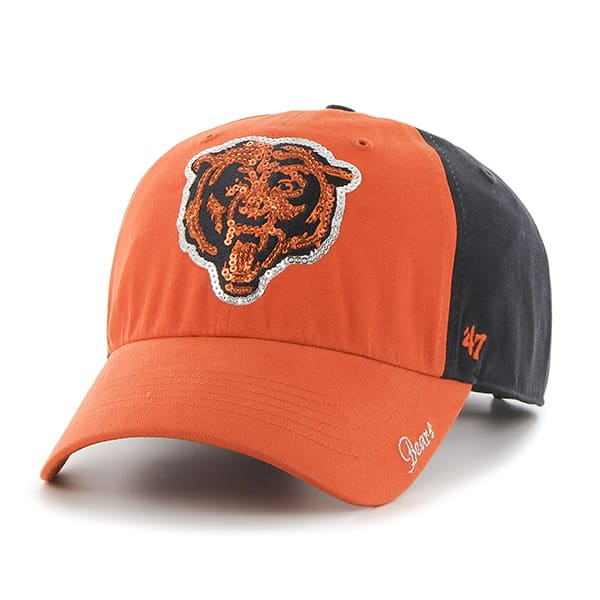 Chicago Bears Sparkle Two Tone Clean Up Navy 47 Brand Womens Hat