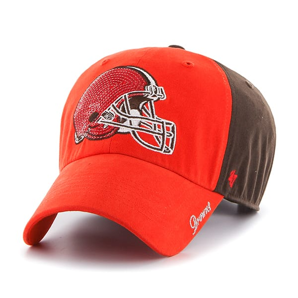 Cleveland Browns Sparkle Two Tone Clean Up Brown 47 Brand Womens Hat