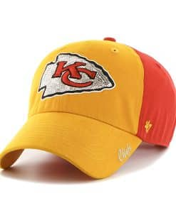 Kansas City Chiefs Sparkle Two Tone Clean Up Torch Red 47 Brand Womens Hat