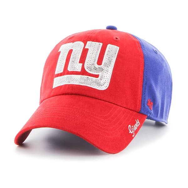 New York Giants Sparkle Two Tone Clean Up Royal 47 Brand Womens Hat