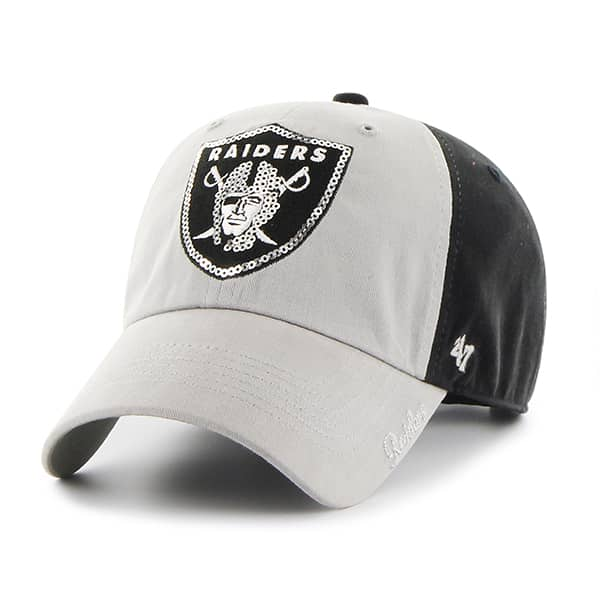 Oakland Raiders Sparkle Two Tone Clean Up Black 47 Brand Womens Hat