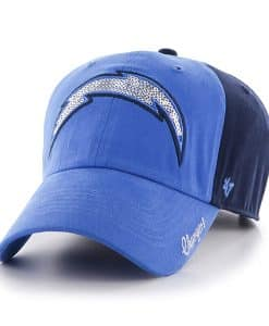 San Diego Chargers Sparkle Two Tone Clean Up Light Navy 47 Brand Womens Hat