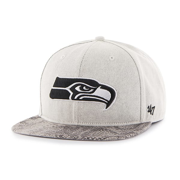 Seattle Seahawks Stone Scale Captain Natural Navy 47 Brand Adjustable Hat