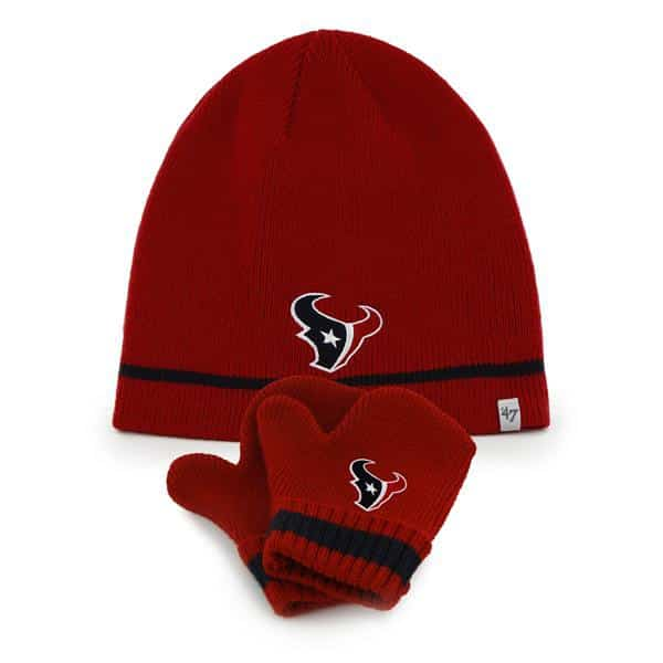 Houston Texans Stripe Knit Set Red 47 Brand INFANT Hat