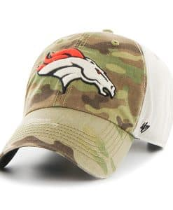 Denver Broncos Camo Multicam Clean Up 47 Brand Adjustable Hat