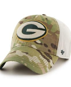 Green Bay Packers Camo Multicam Clean Up 47 Brand Adjustable Hat