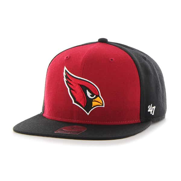 Arizona Cardinals Super Move Captain Black 47 Brand Adjustable Hat