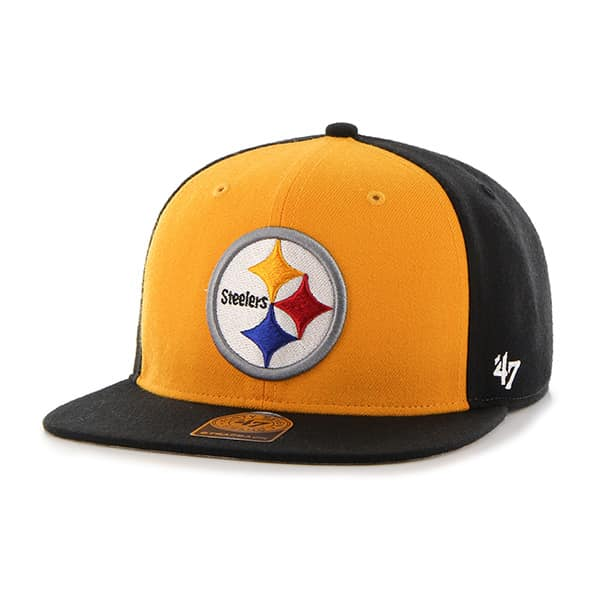 Pittsburgh Steelers Super Move Captain Black 47 Brand Adjustable Hat