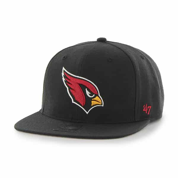 Arizona Cardinals Super Shot Captain Black 47 Brand Adjustable Hat