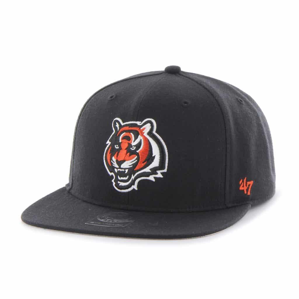 Cincinnati Bengals Super Shot Captain Black 47 Brand Adjustable Hat