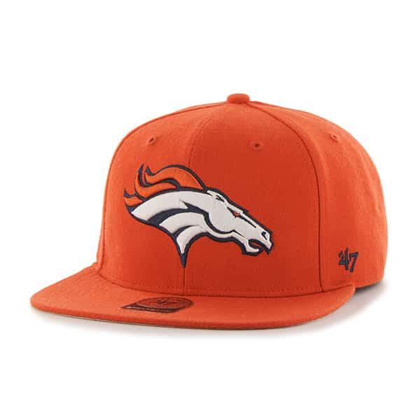 Denver Broncos Super Shot Captain Orange 47 Brand Adjustable Hat