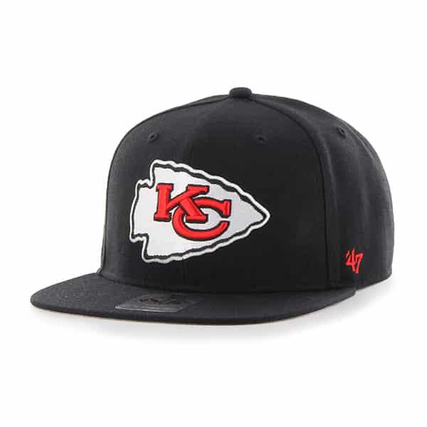 Kansas City Chiefs Super Shot Captain Black 47 Brand Adjustable Hat