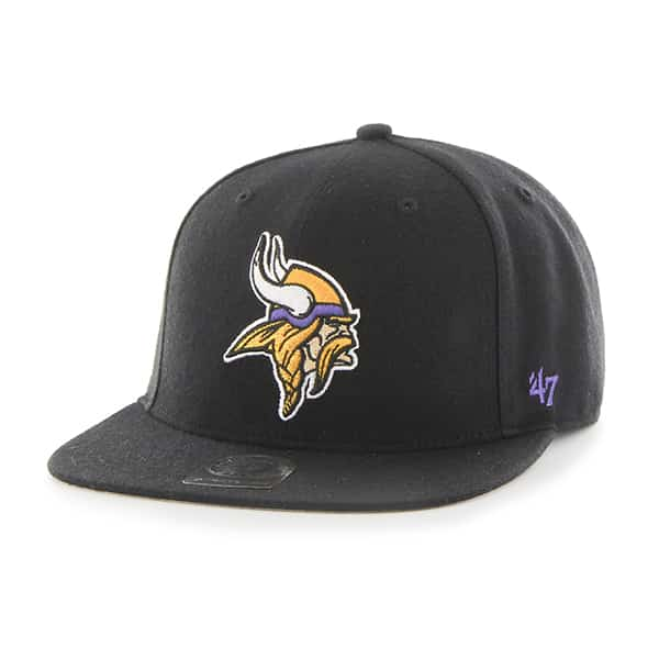 Minnesota Vikings Super Shot Captain Black 47 Brand Adjustable Hat