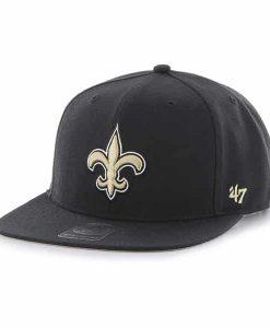 New Orleans Saints Super Shot Captain Black 47 Brand Adjustable Hat