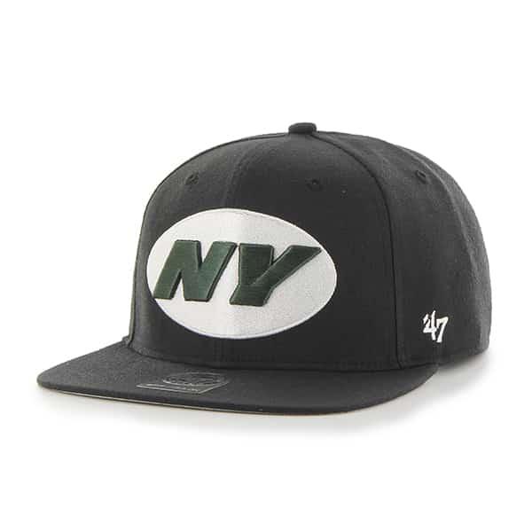 New York Jets Super Shot Captain Black 47 Brand Adjustable Hat