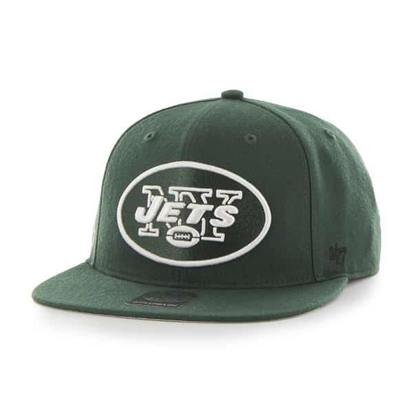 New York Jets Super Shot Captain Dark Green 47 Brand Adjustable Hat