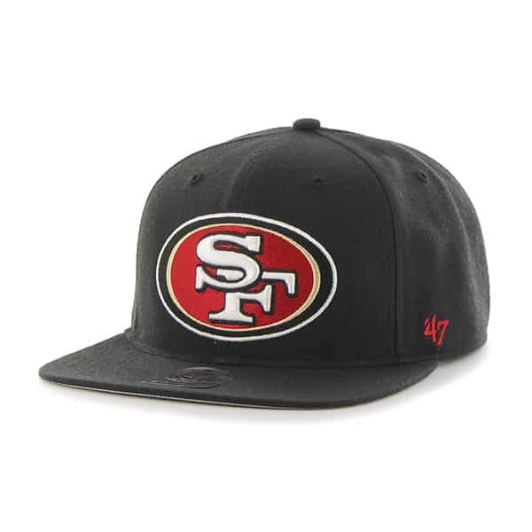 San Francisco 49Ers Super Shot Captain Black 47 Brand Adjustable Hat