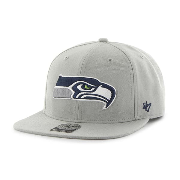 Seattle Seahawks Super Shot Captain Gray 47 Brand Adjustable Hat