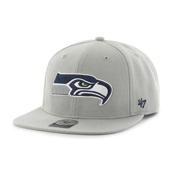 Seattle Seahawks Super Shot Captain Gray 47 Brand Adjustable Hat