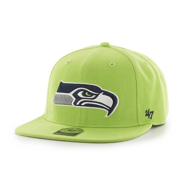 Seattle Seahawks Super Shot Captain Lime 47 Brand Adjustable Hat