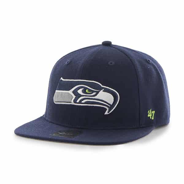 Seattle Seahawks Super Shot Captain Light Navy 47 Brand Adjustable Hat
