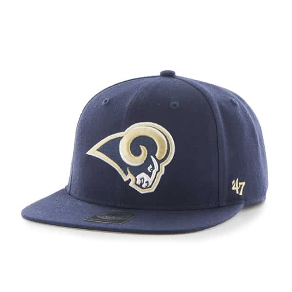 Los Angeles Rams Super Shot Captain Light Navy 47 Brand Adjustable Hat