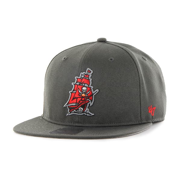 3ad716952e4fc Tampa Bay Buccaneers Super Shot Captain Graphite 47 Brand Adjustable Hat -  Detroit Game Gear