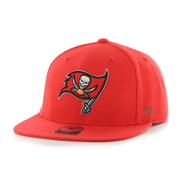 Tampa Bay Buccaneers Super Shot Captain Torch Red 47 Brand Adjustable Hat