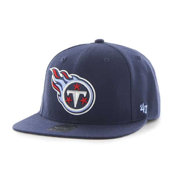 Tennessee Titans Super Shot Captain Light Navy 47 Brand Adjustable Hat