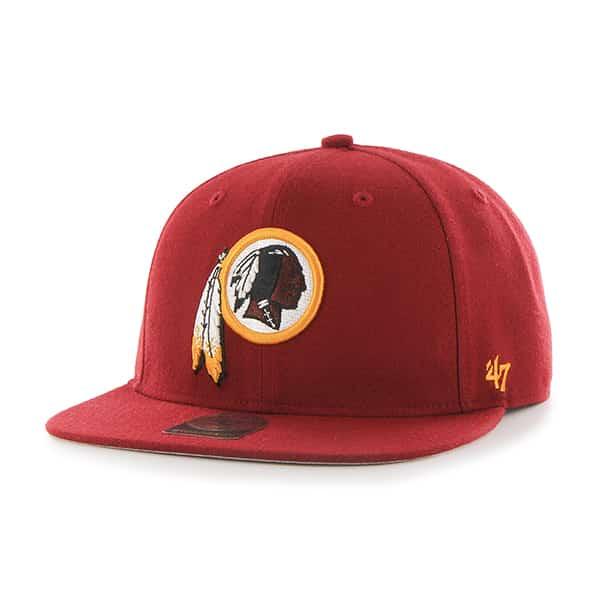 Washington Redskins Super Shot Captain Razor Red 47 Brand Adjustable Hat
