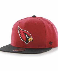 Arizona Cardinals Super Shot Two Tone Captain Dark Red 47 Brand Adjustable Hat