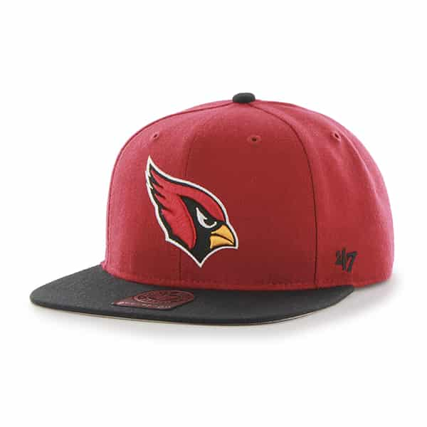 Arizona Cardinals Super Shot Two Tone Captain Dark Red 47 Brand Adjustable Hat